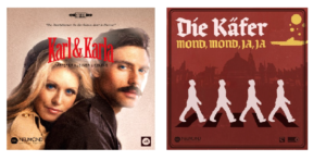 "Figures 1, 2: cover art for 'Tapferer Kleiner Liebling' and 'Mond, Mond, Ja, Ja'. Source: Wolfenstein Wikia: ""Neumond Records"" http://wolfenstein.wikia.com/wiki/Neumond_Records (Consulted 19/07/2016)."