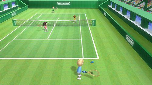 Wii Sports' serve toss.